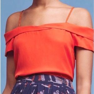 Anthropologie Paper Crown Off Shoulder Top Small